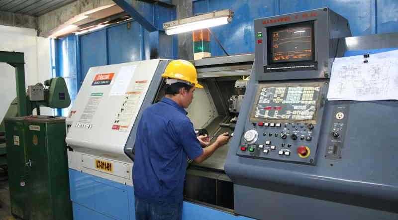 Operação de máquina CNC